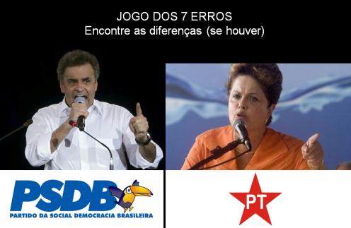 PT e PSDB - Jogo dos 7 erros
