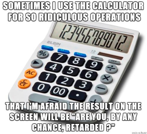 Calculadora em inglês