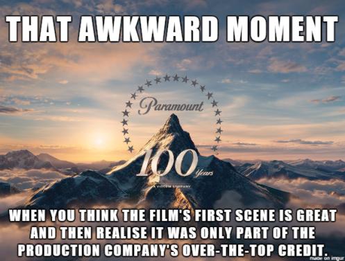 Crédito filme em inglês
