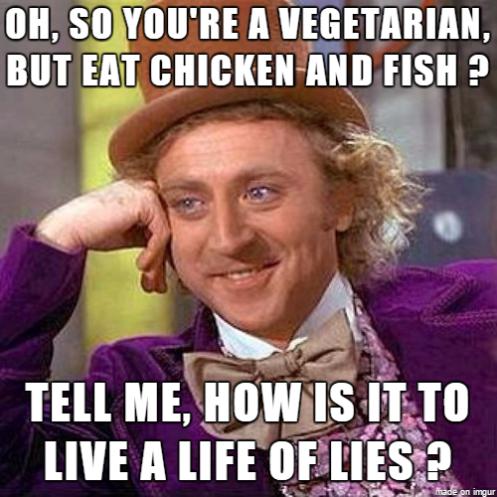 Willy Wonka vegetariano em inglês