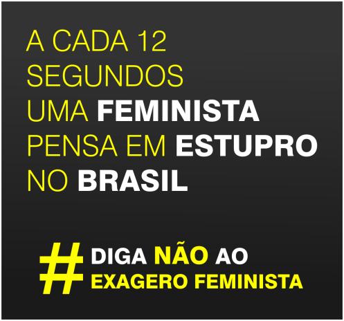 A cada 12 segundos uma feminista